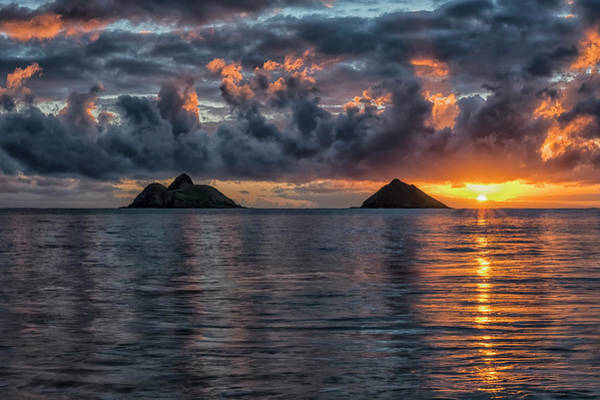 Wall Art - Photograph - Sunrise At Lanikai Beach  Oahu, Hawaii by Robert Postma