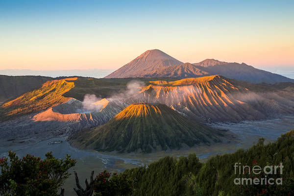 Hiking Wall Art - Photograph - Sunrise At Mount Bromo Volcano, The by Twstock