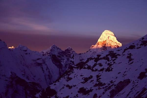 Nepal Wall Art - Photograph - Sunrise At Mt. Ama Dablam by Pal Teravagimov Photography