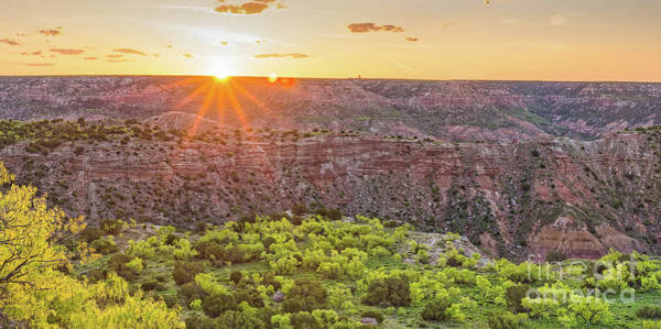 Wall Art - Photograph - Sunrise At Palo Duro Canyon State Park - Amarillo Texas Panhandle by Silvio Ligutti