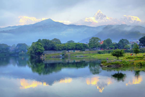 Wall Art - Photograph - Sunrise At Pokhara by Photo By Roger Cave