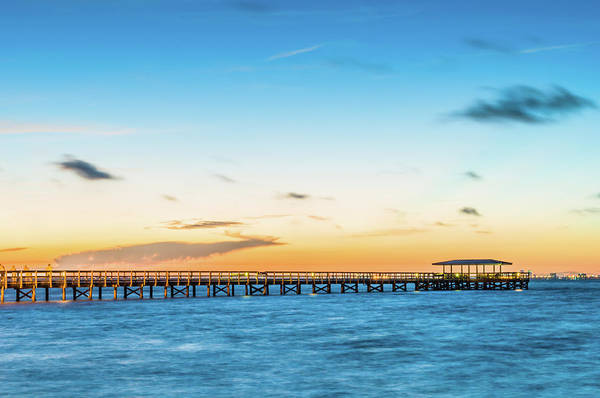 Photograph - Sunrise At Safety Harbor Pier by Joe Leone