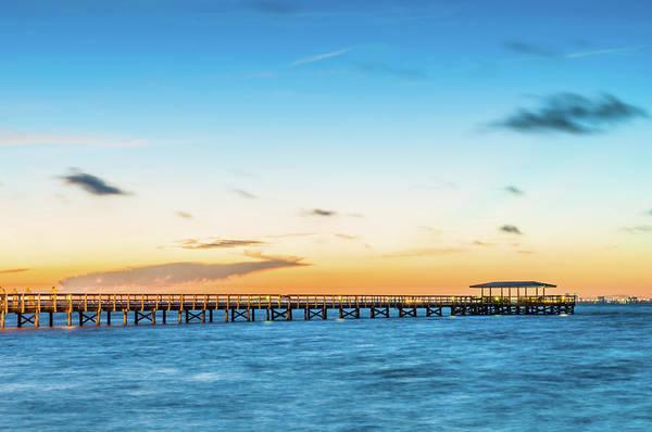 Sunrise At Safety Harbor Pier Art Print
