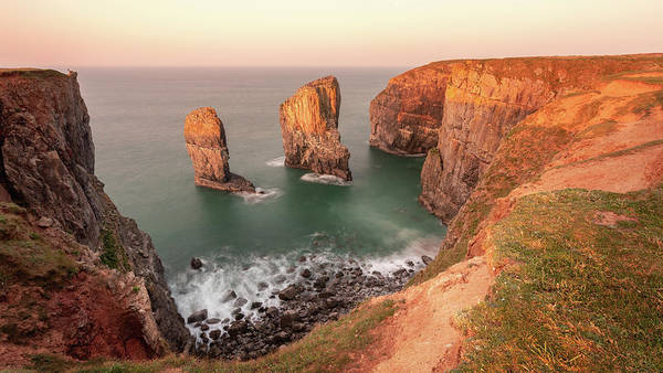 Art Print featuring the photograph Sunrise At Stack Rocks by Elliott Coleman