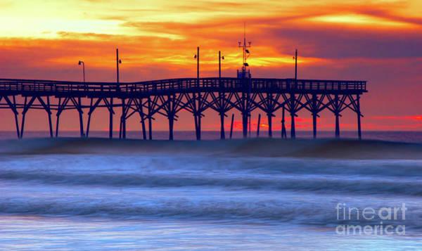 Wall Art - Photograph - Sunrise At Sunset Beach Pier by Dan Carmichael