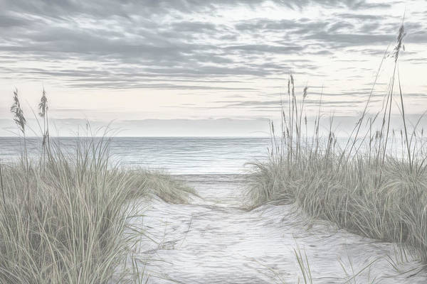 Wall Art - Photograph - Sunrise At The Dunes Sketch by Debra and Dave Vanderlaan