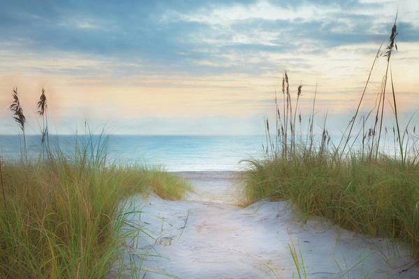 Wall Art - Photograph - Sunrise At The Dunes Watercolor Painting by Debra and Dave Vanderlaan