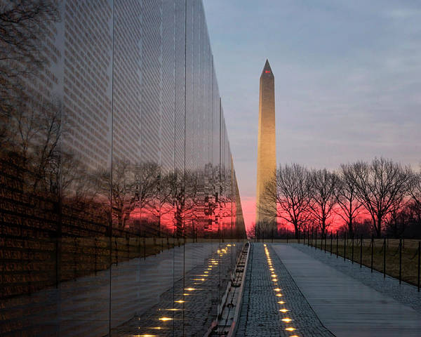 Photograph - Sunrise At The Memorial by Travis Rogers