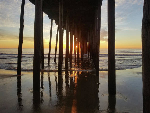 Photograph - Sunrise At The Oc Fishing Pier by Robert Banach