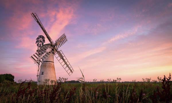 Norfolk Broads Wall Art - Photograph - Sunrise At Thurne Mill by Stuart Leche