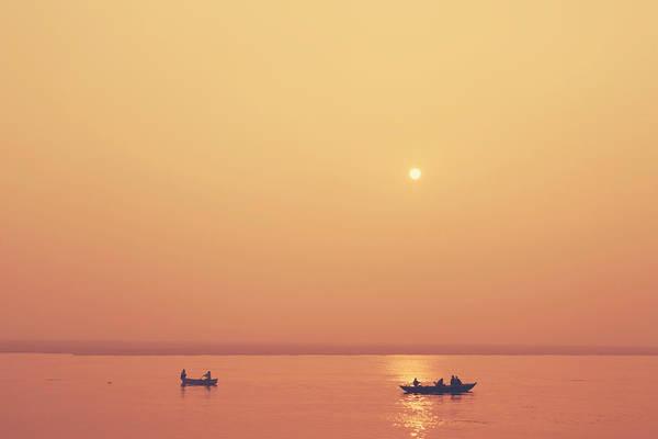 Photograph - Sunrise At Varanasi by Mahesh Balasubramanian