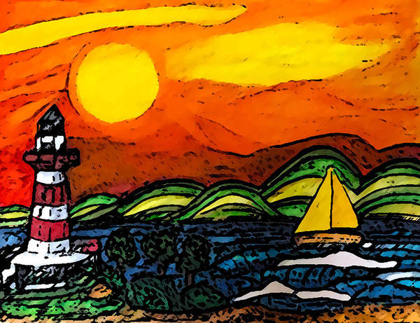 Wall Art - Painting - Sunrise By The Sea by Monica Engeler