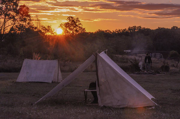 Photograph - Sunrise Camping At Gettysburg by Bill Cannon