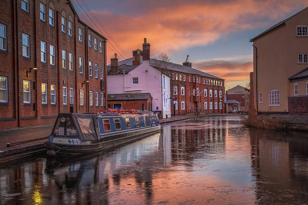 Photograph - Sunrise Canal Reflections by Chris Fletcher