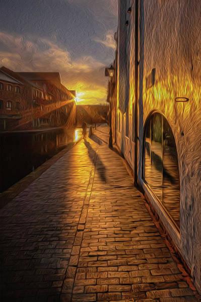 Wall Art - Photograph - Sunrise Canalside Shadow by Chris Fletcher