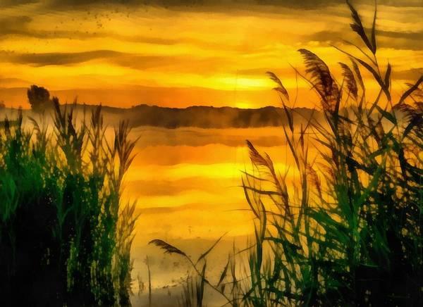 Painting - Sunrise Creek by Harry Warrick