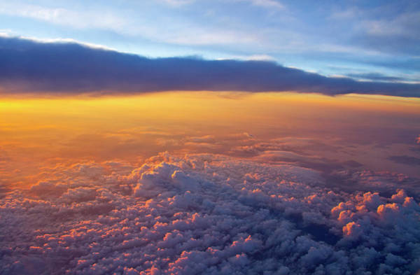 Wall Art - Photograph - Sunrise From A Jetliner by Matt Champlin