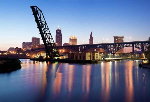 Dawn Photograph - Sunrise In Cleveland by Henryk Sadura