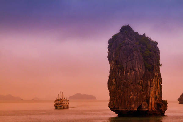 Photograph - Sunrise In Halong Bay by Marzena Grabczynska Lorenc