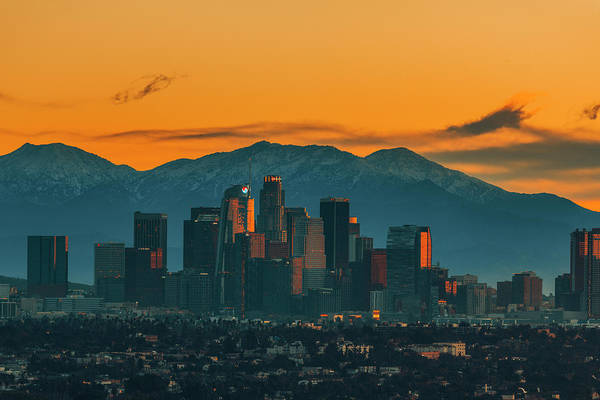 Angeles Photograph - Sunrise In La by Art K