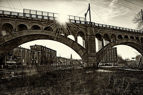 Photograph - Sunrise In Manayunk In Sepia by Bill Cannon