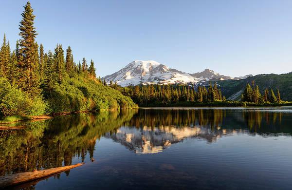 Sunrise In Mt Rainier  Art Print