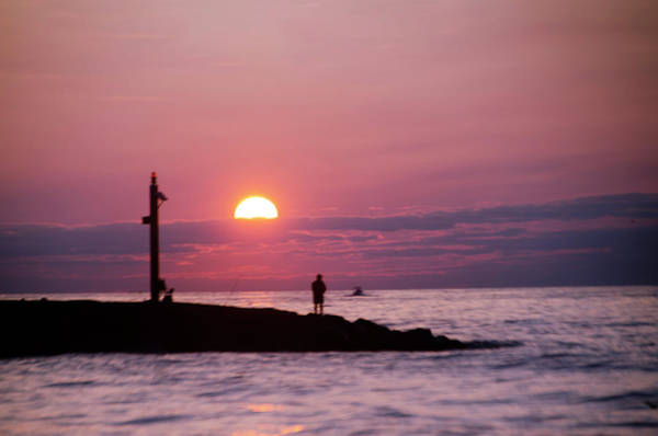 Photograph - Sunrise In New Jersey - Fishing In Avalon by Bill Cannon