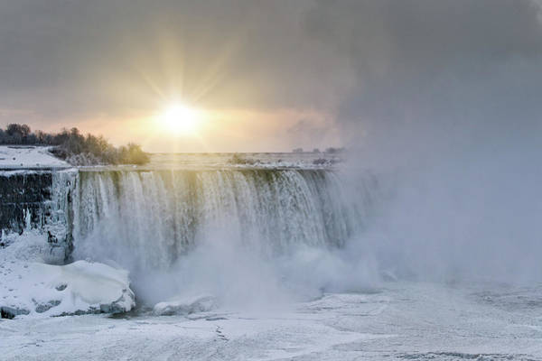 Photograph - Sunrise In Niagara Falls by Nick Mares