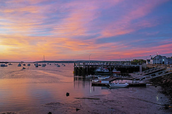 Wall Art - Photograph - Sunrise In Plymouth Ma Dock Pier Boats by Toby McGuire