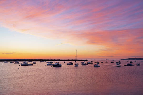 Photograph - Sunrise In Plymouth Ma Harbor by Toby McGuire
