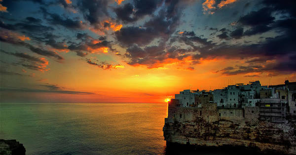 Mare Photograph - Sunrise In Polignano A Mare by Fabrizio Massetti