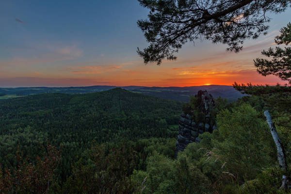 Photograph - Sunrise In Saxon Switzerland by Andreas Levi