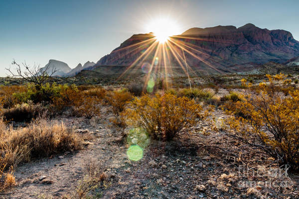 Wall Art - Photograph - Sunrise In The Chisos Mountains Big by B Norris