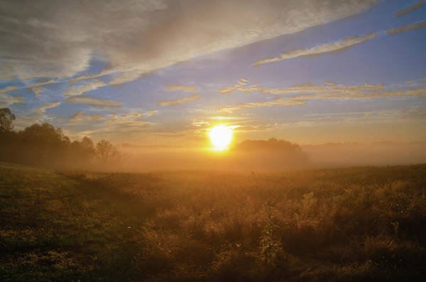 Wall Art - Photograph - Sunrise In The Field - Valley Forge Pa by Bill Cannon