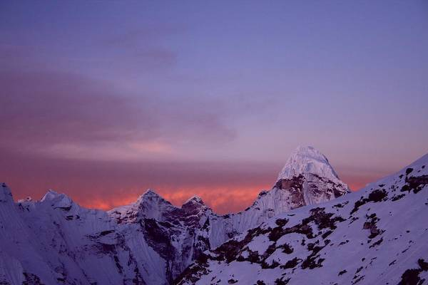 Khumbu Wall Art - Photograph - Sunrise In The Nepal Himalayas by Pal Teravagimov Photography