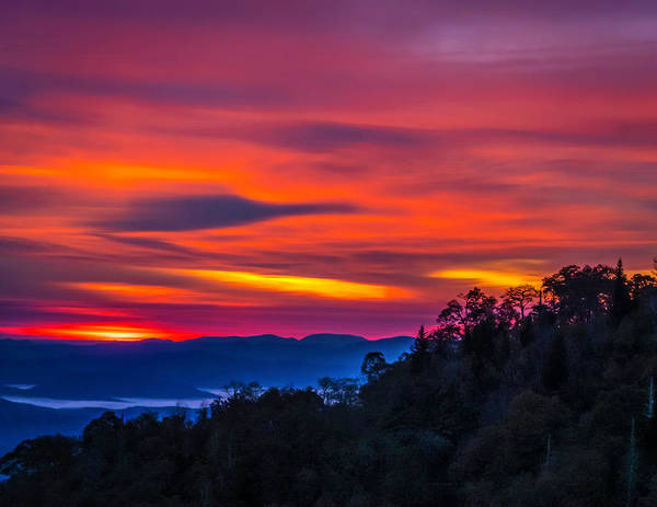 Wall Art - Photograph - Sunrise In The Smokies by Peggy Blackwell