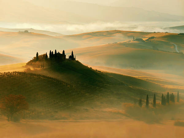 Photograph - Sunrise In Val D'orcia by Jaroslaw Blaminsky