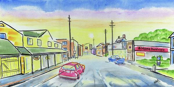 Wall Art - Painting - Sunrise by Kevin Cameron
