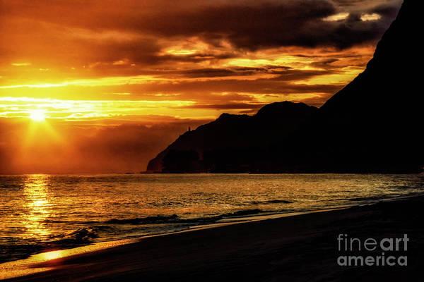Photograph - Sunrise Makapuu Point Lighthouse by Thomas R Fletcher