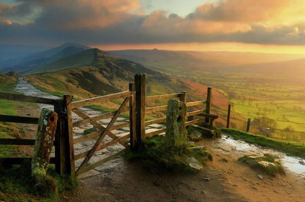 Peak District National Park Photograph - Sunrise Mam Tor, Peak District by Chris Hepburn