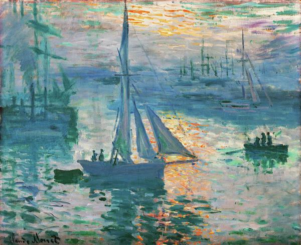 Wall Art - Painting - Sunrise, Marine - Digital Remastered Edition by Claude Monet