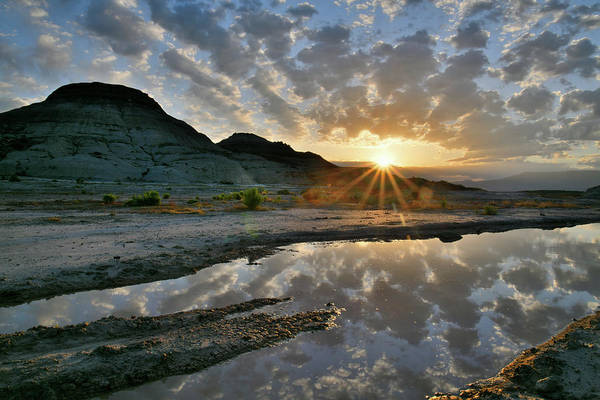 Photograph - Sunrise Mirror Image At Ruby Mountain by Ray Mathis