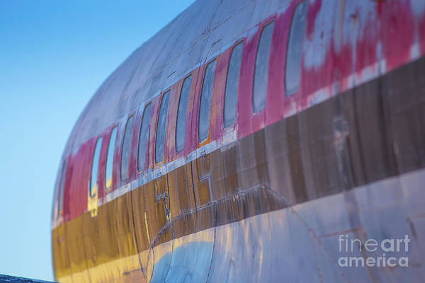 Wall Art - Photograph - Sunrise On An Old Airplane 2 by Edward Fielding
