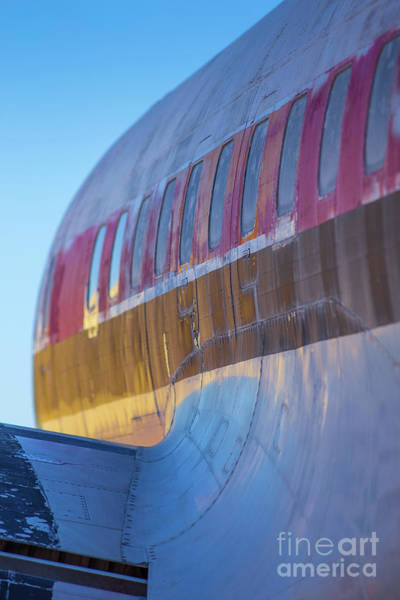 Wall Art - Photograph - Sunrise On An Old Airplane by Edward Fielding