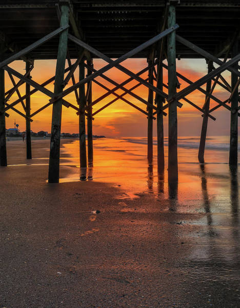 Photograph - Sunrise On Folly Beach Pier by Dan Sproul
