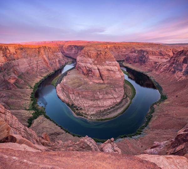 Wall Art - Photograph - Sunrise On Horseshoe Bend by Davorin Mance
