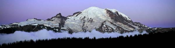 Photograph - Twilight Above The Clouds Mount Rainier by Ed  Riche