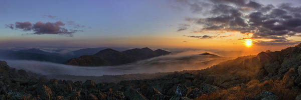 Wall Art - Photograph - Sunrise On Mount Washington Pano by Chris Whiton
