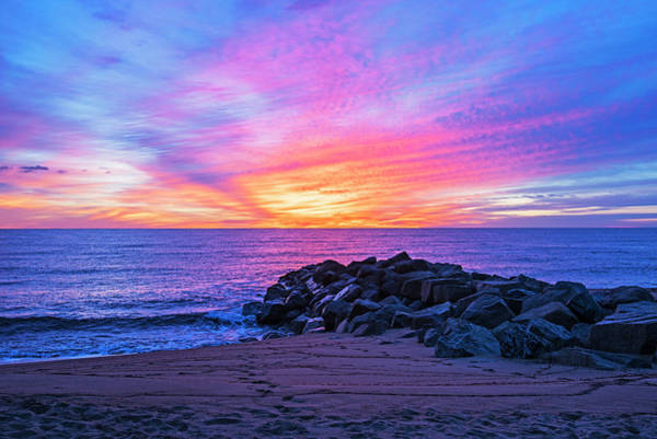 Photograph - Sunrise On Plum Island Newburyport Ma Blue Water by Toby McGuire