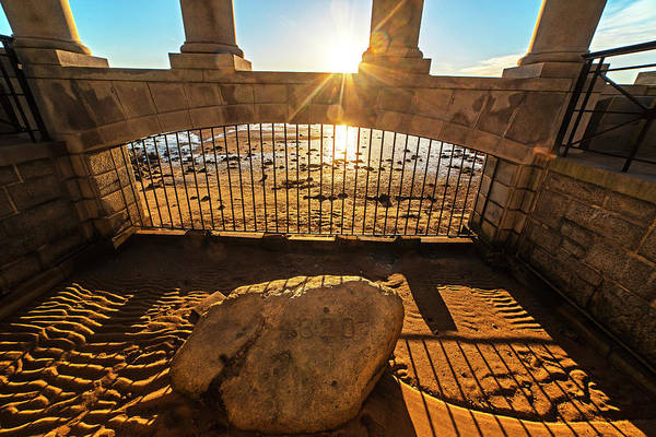Wall Art - Photograph - Sunrise On Plymouth Rock Plymouth Ma by Toby McGuire